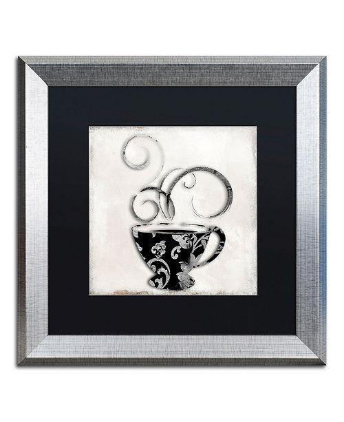 "Trademark Global Color Bakery 'Silver Brewed 2' Matted Framed Art - 16"" x 16"""
