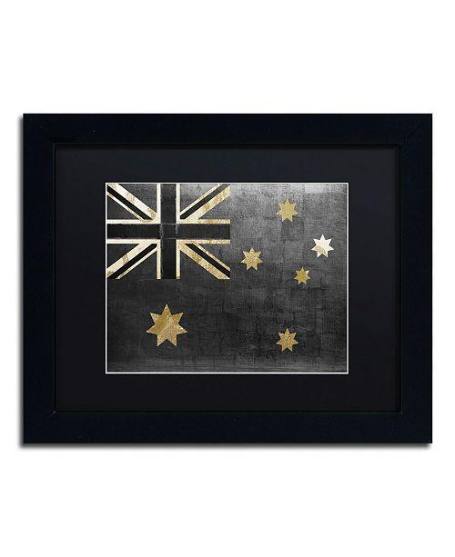 "Trademark Global Color Bakery 'Fashion Flag III' Matted Framed Art - 11"" x 14"""