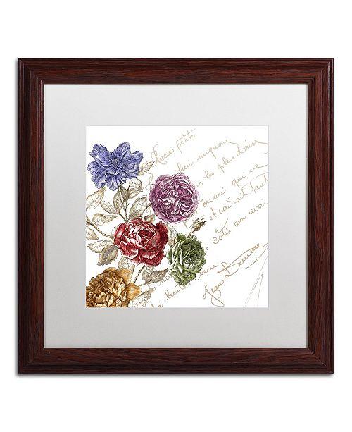 """Trademark Global Color Bakery 'La Belle Vie I' Matted Framed Art - 16"""" x 16"""""""