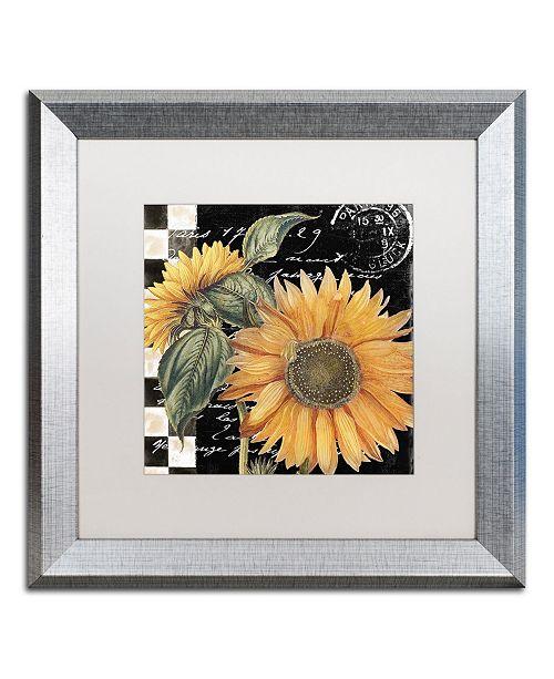 "Trademark Global Color Bakery 'Late Summer II' Matted Framed Art - 16"" x 16"""