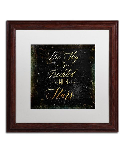 """Trademark Global Color Bakery 'Moon and Back III' Matted Framed Art - 16"""" x 16"""""""