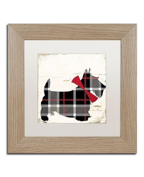 "Trademark Global Color Bakery 'Scotty II' Matted Framed Art - 11"" x 11"""