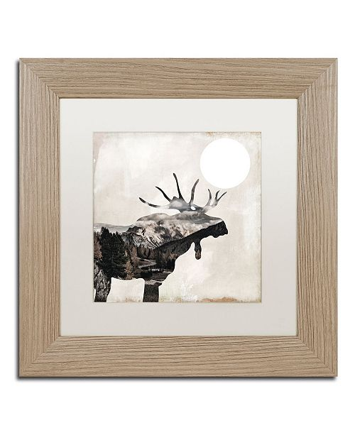 "Trademark Global Color Bakery 'Going Wild V' Matted Framed Art - 11"" x 11"""