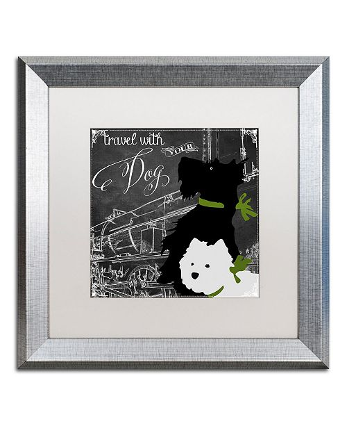 "Trademark Global Color Bakery 'Travel With Your Dog' Matted Framed Art - 16"" x 16"""