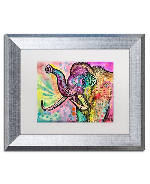 "Trademark Global Dean Russo 'Woolly Mammoth' Matted Framed Art - 11"" x 14"""