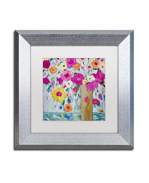"Trademark Global Carrie Schmitt 'Sunshine Daydream' Matted Framed Art - 11"" x 11"""