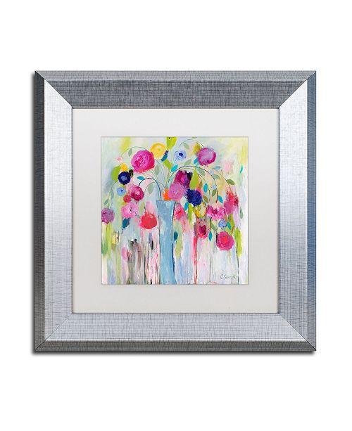 """Trademark Global Carrie Schmitt 'Joie de Vivre' Matted Framed Art - 11"""" x 11"""""""