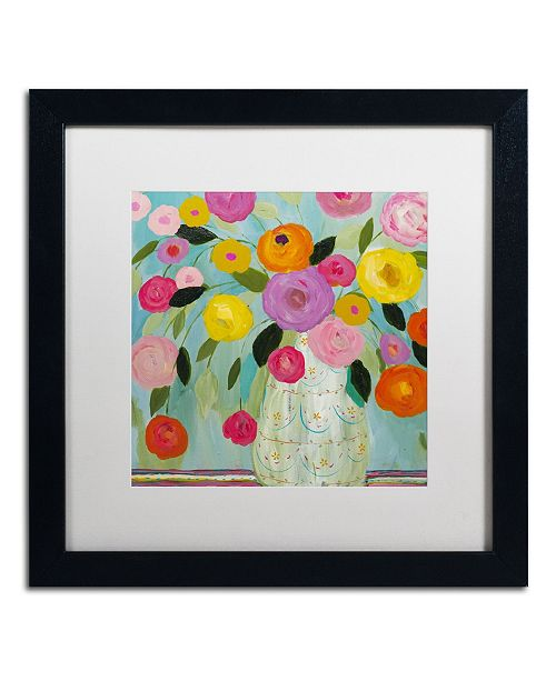 "Trademark Global Carrie Schmitt 'Fiesta' Matted Framed Art - 16"" x 16"""