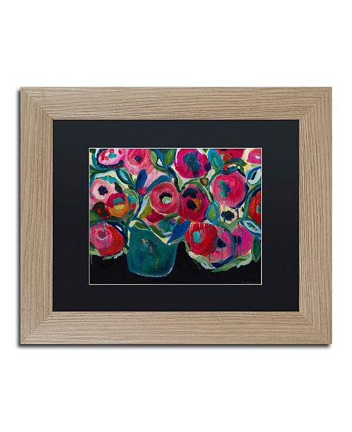 """Trademark Global Carrie Schmitt 'Las Floras' Matted Framed Art - 11"""" x 14"""""""