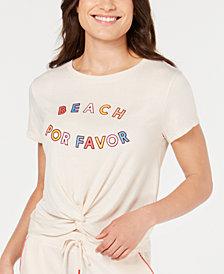 Jenni Twist-Front Pajama Top, Created for Macy's