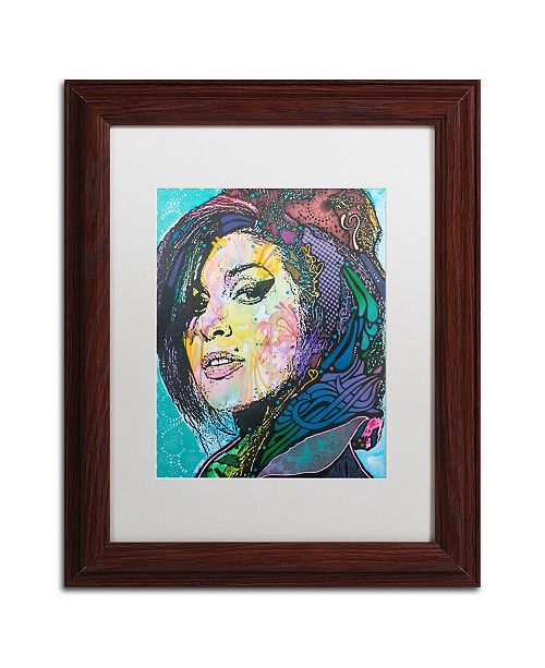 "Trademark Global Dean Russo 'Amy Winehouse' Matted Framed Art - 11"" x 14"""