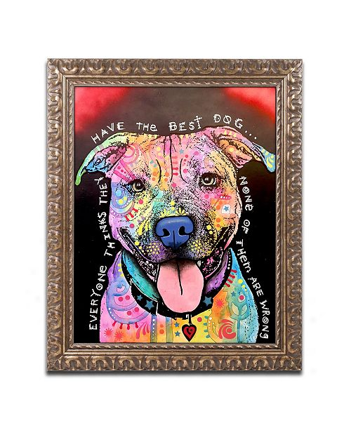 "Trademark Global Dean Russo 'Best Dog' Ornate Framed Art - 11"" x 14"""