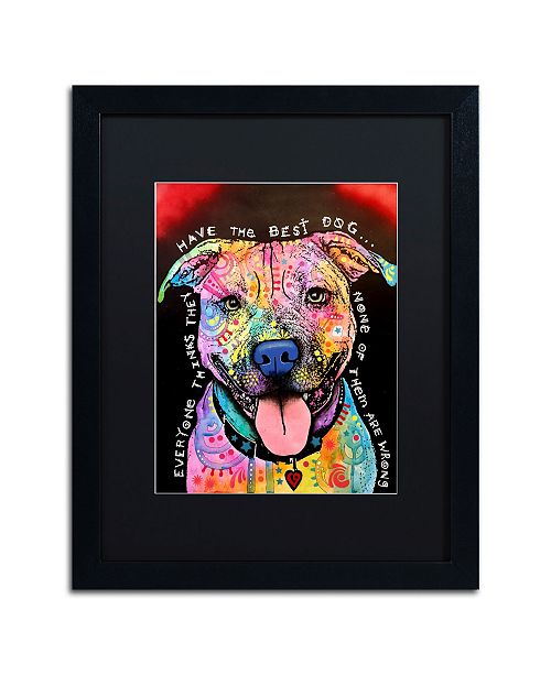 "Trademark Global Dean Russo 'Best Dog' Matted Framed Art - 16"" x 20"""