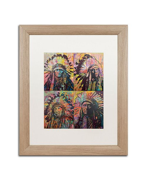 "Trademark Global Dean Russo 'Chiefs Quadrant' Matted Framed Art - 16"" x 20"""