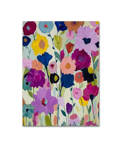 """Trademark Global Carrie Schmitt 'Blooms Have Burst' Canvas Art - 14"""" x 19"""""""
