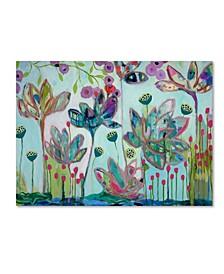 """Carrie Schmitt 'Flying Lotus' Canvas Art - 35"""" x 47"""""""