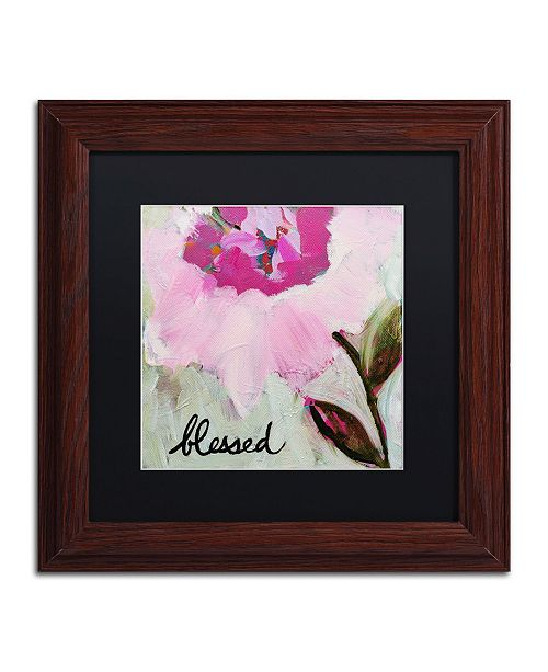 "Trademark Global Carrie Schmitt 'Blessed' Matted Framed Art - 11"" x 11"""