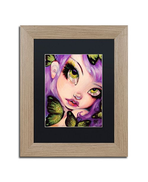 "Trademark Global Natasha Wescoat 'Green Eyed Violet' Matted Framed Art - 11"" x 14"""