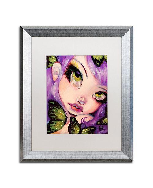 """Trademark Global Natasha Wescoat 'Green Eyed Violet' Matted Framed Art - 16"""" x 20"""""""