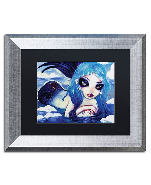 "Trademark Global Natasha Wescoat 'Ice Mermaid' Matted Framed Art - 11"" x 14"""