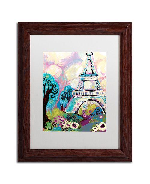 """Trademark Global Natasha Wescoat 'La Dame De Fer' Matted Framed Art - 11"""" x 14"""""""