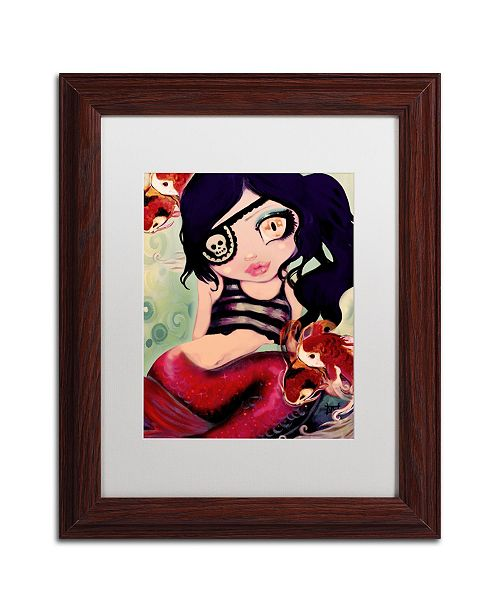 "Trademark Global Natasha Wescoat 'Mermaid Pirate' Matted Framed Art - 11"" x 14"""