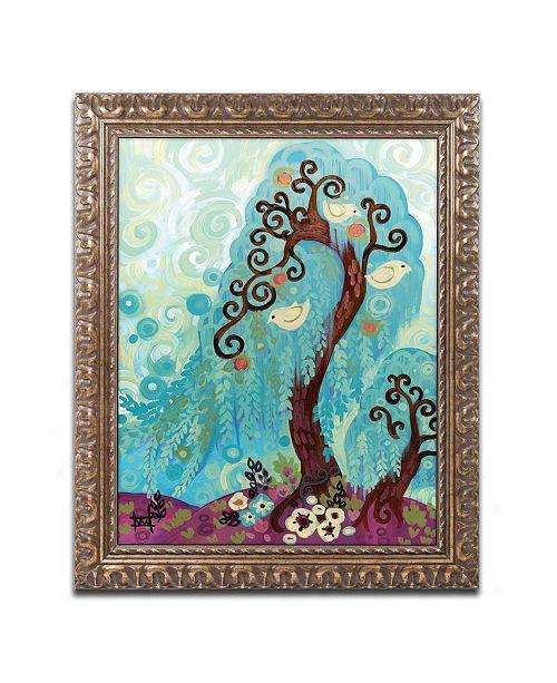 """Trademark Global Natasha Wescoat 'Spritely Blue Willows' Ornate Framed Art - 11"""" x 14"""""""