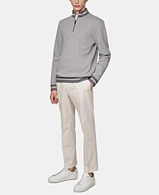 BOSS Men's Sidney 16 Zip-Neck Two-Tone Melange Sweatshirt