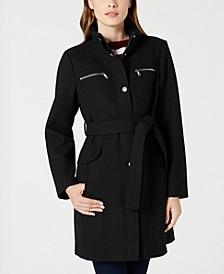 Belted Zip-Pocket Coat