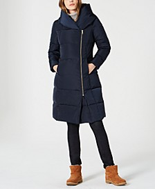 Petite Asymmetrical Down Puffer Coat