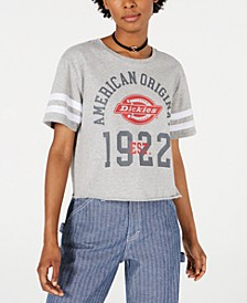 Cropped Graphic Varsity T-Shirt