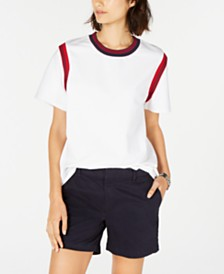 Tommy Hilfiger Contrast Trim T-Shirt, Created for Macy's