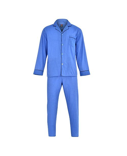 Hanes Platinum Hanes Men's Big and Tall Cvc Broadcloth Pajama Set