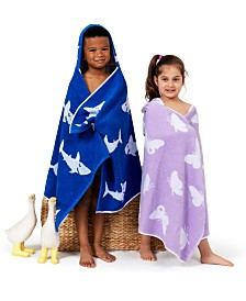 Linum Kids 100% Turkish Aegean Cotton Hooded Easy Bath and Beach Wrap Collection