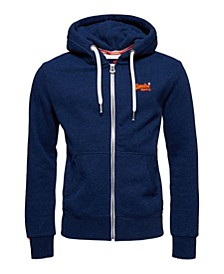Men's Orange Label Zip-Up Hoodie
