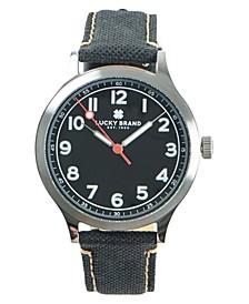 Men's Jefferson Black Fabric Strap Watch 38mm