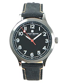 Lucky Brand Men's Jefferson Black Fabric Strap Watch 38mm