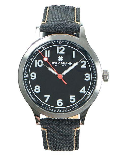 Lucky Brand Men's Jefferson Black Fabric Strap Watch 38mm