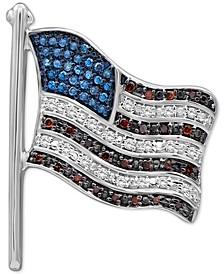 Diamond Flag Pin (1/4 ct. t.w.) in Sterling Silver