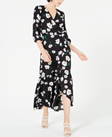 Bar III Ruffled Maxi Wrap Dress, Created for Macy's