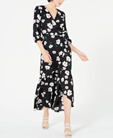 Bar III Ruffled Maxi Wrap Dress, Created for Macy's