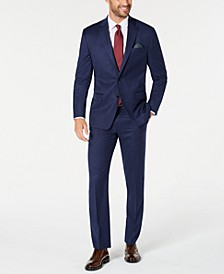 Men's Classic-Fit UltraFlex Stretch Blue Solid Suit Separates