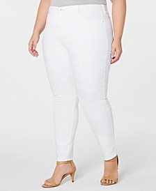 Plus Size Tummy-Control Stain Release Skinny Jeans, Created for Macy's