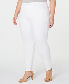 Style & Co Plus Size Tummy-Control Skinny Jeans, Created for Macy's