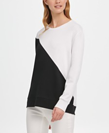 DKNY Everyday Colorblocked Sweatshirt