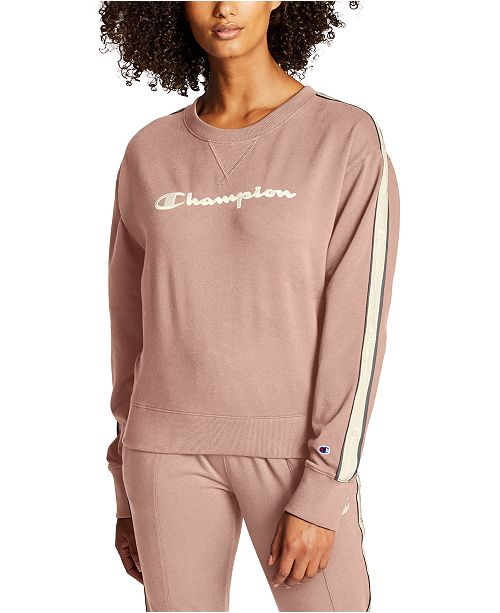 Champion Women's Heritage Varsity-Stripe Sweatshirt