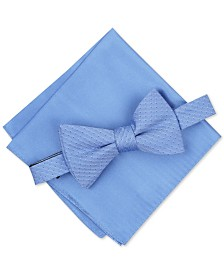 Alfani Men's Mini Neat To-Tie Bow Tie & Solid Pocket Square Set, Created for Macy's