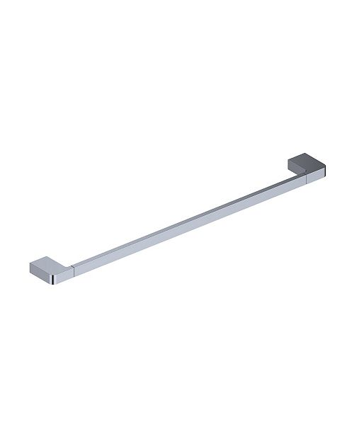 WS Bath Collections Cube Towel Bar in Polished Chrome