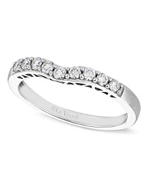 Le Vian Diamond Diamond Wedding Band (1/4 ct. t.w.) in 14k White Gold
