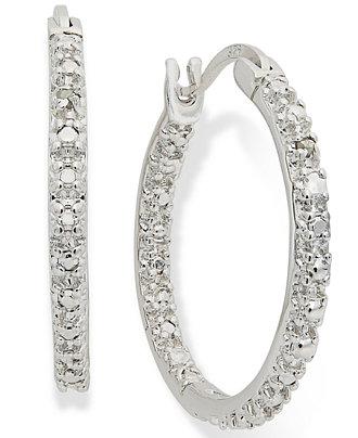 Macy S Diamond Hoop Earrings
